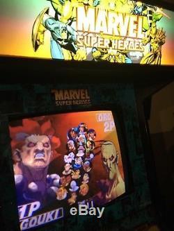 Ms Pac-Man, Donkey Kong, Frogger, Galaga, Street Fighter, Mario arcade machine
