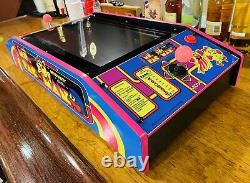 Ms. Pac-Man Pink Edition Table Top (Cocktail) Arcade Machine with60 Classic Games