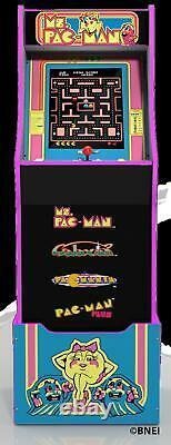Ms Pacman Arcade Machine with Riser Retro Arcade Cabinet Arcade 1UP New 4 Games