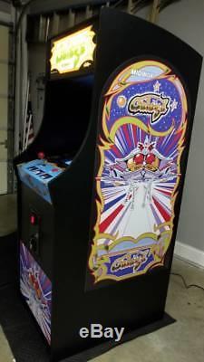 NEW ARCADE CLASSICS retro game machine. Reproduction Galaga Style cabinet