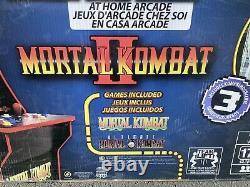 NEW Arcade1Up Mortal Kombat Arcade Machine Includes Mortal Kombat I, II, III