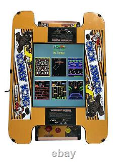 NEW Donkey Kong Ms. PacMan Arcade Machine Galaga Upgraded 60 in 1 Cocktail Table