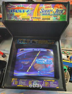 NFL Blitz and NBA Showtime COMBO Arcade Video Game Machine 4 Players! WORKS