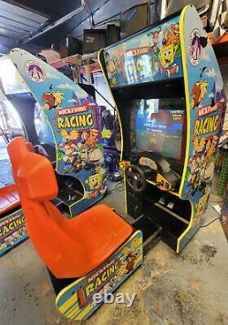 Nickelodeon Nicktoons Racing Arcade Driving Video Game Machine WORKS GREAT