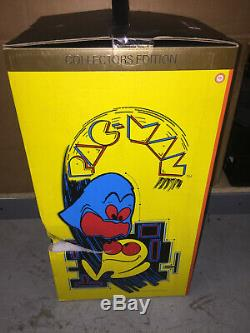 Official Pac-Man 1/4 Scale Arcade Cabinet Machine & Coin 16.9 Backlit NEW- READ