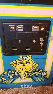Original 1980 Ms Pac-man Machine By Bally Midway Full size Coin op Arcade Pacman