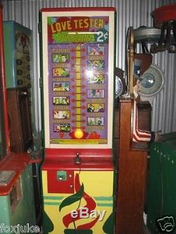 Original Exhibit Supply Love Tester Machine 1940's