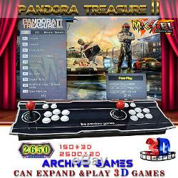 Pandora Box II 3D 2650 Games Double Stick Arcade Console Machine RetroGame HDMI