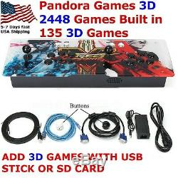 Pandoras Games 3D Arcade Videogame Console 2448 Classic Arcade machine Metal