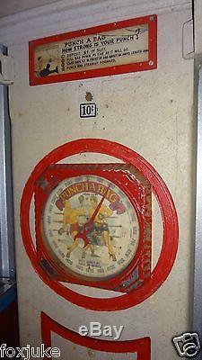 Punching Bag Strength Test Original Arcade Machine Mutoscope Mfg. C1910