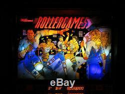 ROLLERGAMES Arcade Pinball Machine Williams 1990 (Custom LED)