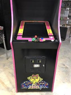 Restored Black Ms. PacMan Arcade Machine, Upgraded