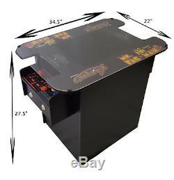 Retro Cocktail Arcade Machine With 60 Games Ms. Pac-Man, Galaga, Donkey Kong