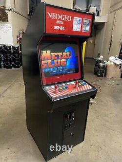 SNK Neo Geo 2 Slot MVS Arcade Video Game Machine Metal Slug 2 Puzzle Bubble