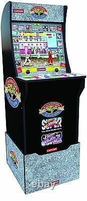 STREET FIGHTER 2 Arcade1up Retro Video Game Machine 4ft 3in1 Arcade WITH RISER