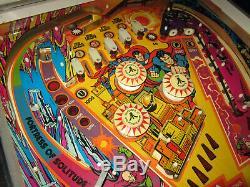 SUPERMAN Arcade Pinball Machine by ATARI 1979 (Custom LED & Excellent Condition)