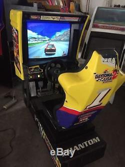 Sega DAYTONA USA 2 battle on the edge driver arcade machine WORKS