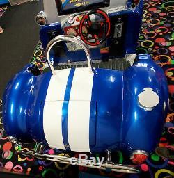 Shelby Cobra Interactive Arcade Video Game Simulator Kiddie Ride Machine WORKING