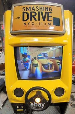 Smashing Drive (Crazy Taxi) Arcade Driving Racing Video Game Machine WORKS GREAT