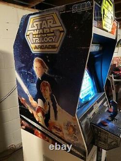 Star Wars Trilogy Arcade game Machine Stand Up SEGA Vintage