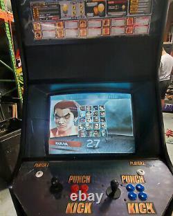 TEKKEN 4 Full Size 2 Player Fighting Arcade Video Game Machine! WORKING