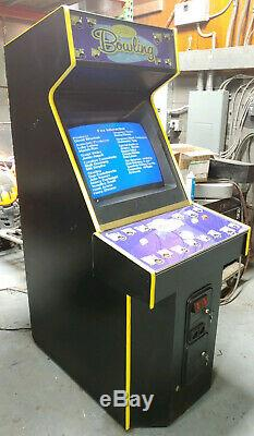 THE SIMPSONS Bowling Arcade Video Game Machine- WORKING GREAT! Bart Homer Maggie
