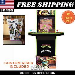 Teenage Mutant Ninja Turtles Retro Arcade Gaming Cabinet Machine w Riser 1Up New