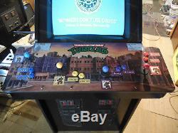Teenage Mutant Ninja Turtles arcade game machine restored