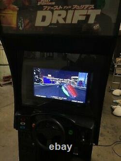 The Fast and the Furious TOKYO DRIFT Arcade Sit Down Driving Video Game Machine