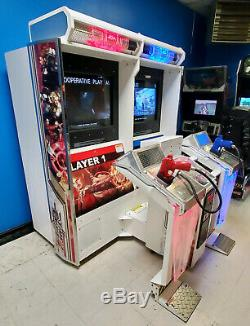 Time Crisis 4 Twin (2) Linked Shooting Arcade Video Game Machine! WORKING GOOD