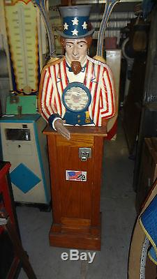 Uncle Sam Personality Tester Arcade Machine Ship Available