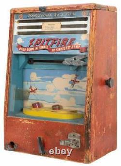 Vintage 1940s Spitfire WWII Airplane Gumball Arcade Game Scientific Machine Co