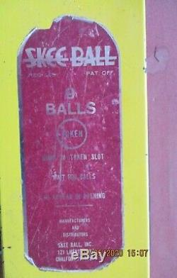 Vintage Arcade 10ft Skee Ball Machine RARE SkeeBall Inc. GOOD CONDITION