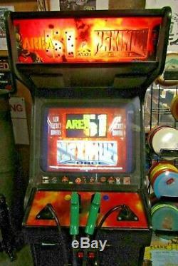 Vintage Atari Area 51/ Maximum Force Dual Arcade Machine Working Nice Rare