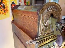 Vintage Cast Iron Electra Shooting game Tade stimulator Slot Machine Arcade
