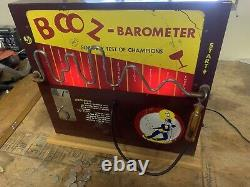 Vintage Nickle Operated Booz Barometer Coin Operated Machine Bar Game 1971
