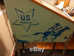 Vintage U. S. Marshall Target Coin Op 5 Cent Machine Arcade Target Game Trade