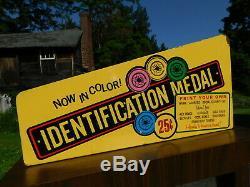 Vtg Coin Op Arcade Machine Standard Metal Typer Identification Medal WORKS GREAT