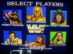 WWF Superstars arcade game machine