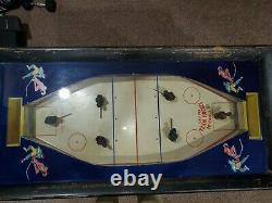 1950s Team Hockey Pièce Exploité Arcade Non Vidéo Machine De Jeu De Bois Rail Flipper