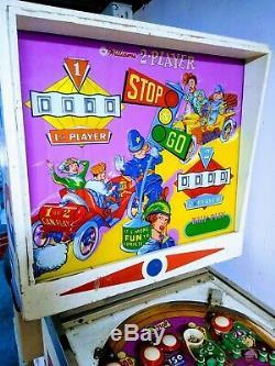 1964 Williams Stop N Go Machine De Flipper Rare Salle De Jeux Arcade Faible Production