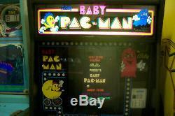 1982 Bally Midway Bebe Pac-man Arcade Pinball / Jeu Vidéo (pick-up À Indy)