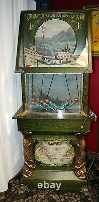 1¢ Machine D'arcade De Testeur De Lung Sous-marin Mills Par John Papa