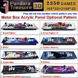 2350 Jeux Pandora Trésor 3d Accueil Jeu Console Arcade Machine Manette De Jeu Mario