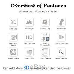 2650 Jeux Pandora Trésor II 3d Arcade Console Séparables Machine À Double Sticks
