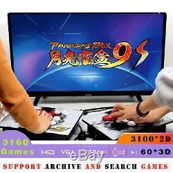 3160 Jeux Séparables Pandora Box 9s Retro Arcade Console Machine Joyticks 603d
