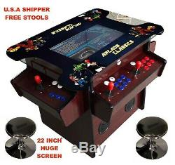 4 Joueur Cocktail Arcade Machine1162 Jeux Classiques Bois Dorant 165lbs