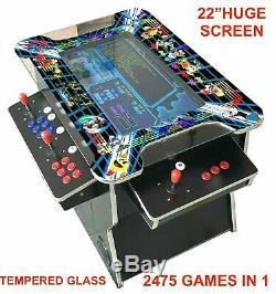 4 Joueurs Joueur Cocktail Arcade Machine 2475 Classic Games 160lb Grad