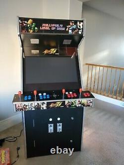 4 Joueurs Machine D'arcade De Taille Complète Personnalisée Avec 3200 Jeux Construits En