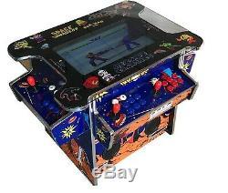 4 Player Cocktail Arcade Machine2475 Jeux Classiques 158lb + 2 Selles Nouveau